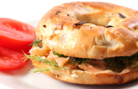 Wasabi Salmon Bagel Sandwiches