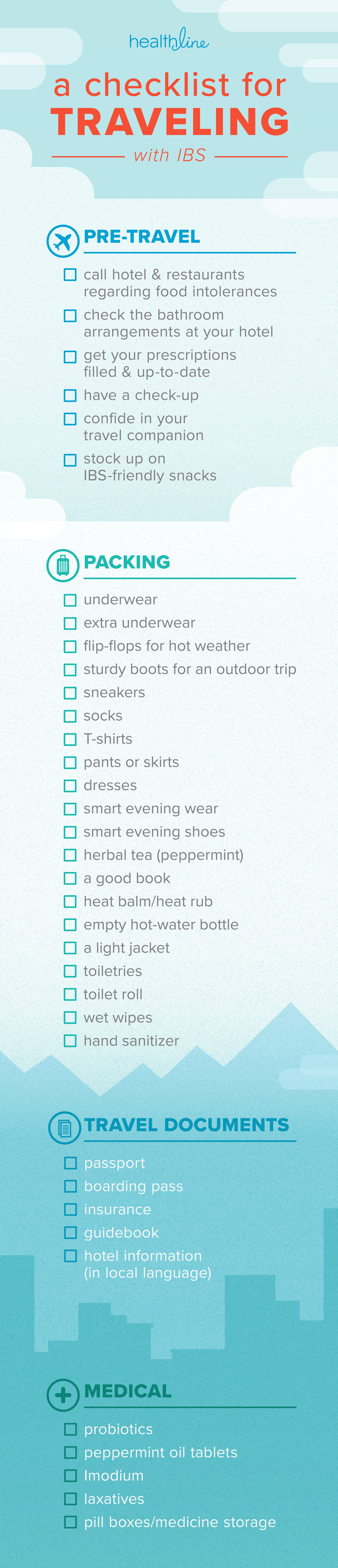 ibs travel checklist
