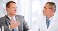 doctor and patient discussing lupus treatments