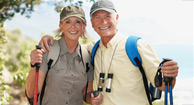 retired couple on a hike