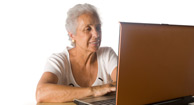 woman researching medicare advantage plans