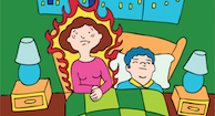 illustration of woman experiencing hot flashes