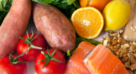 Foods like fish and tomatoes that can affect your hormones.