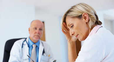 patient with ms talking to doctor