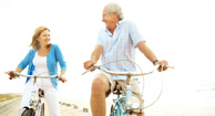couple with parkinsons cycling