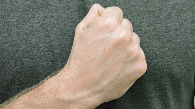 hand making a fist