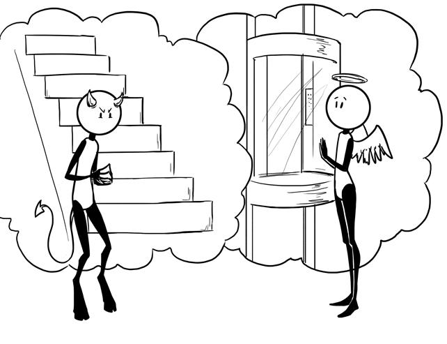stairs versus elevators