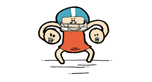 double football hold