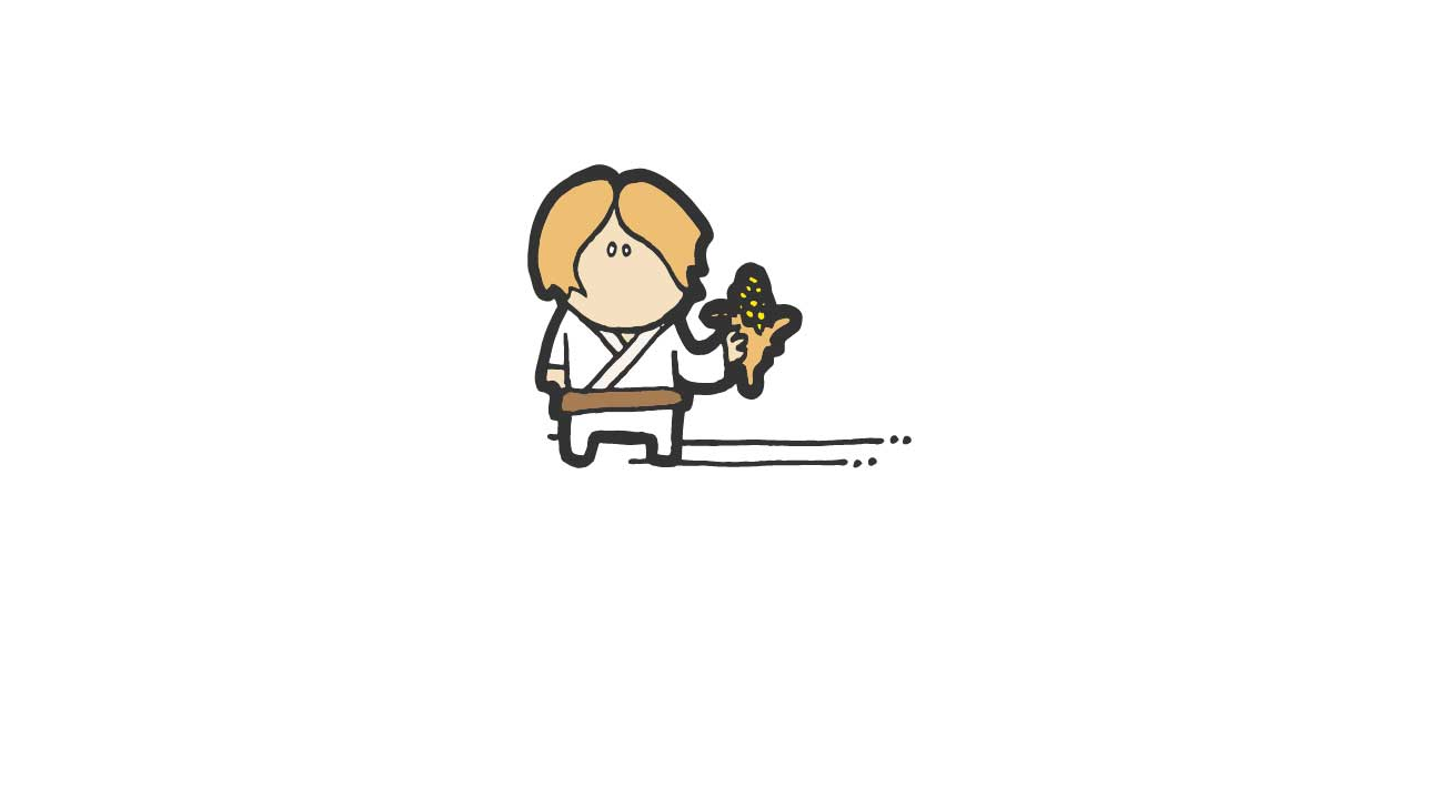 Child holding corn