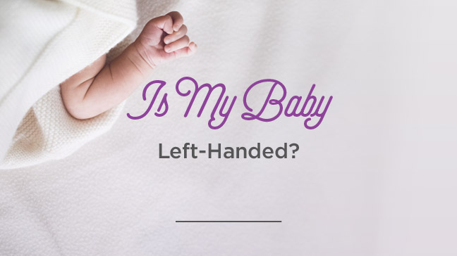 left-handed baby