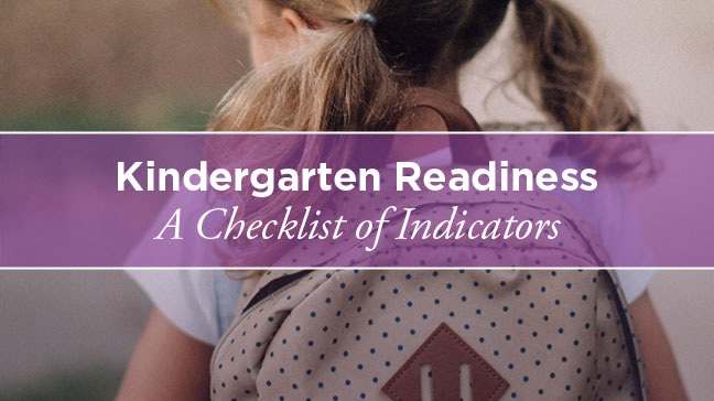 young girl going to kindergarten
