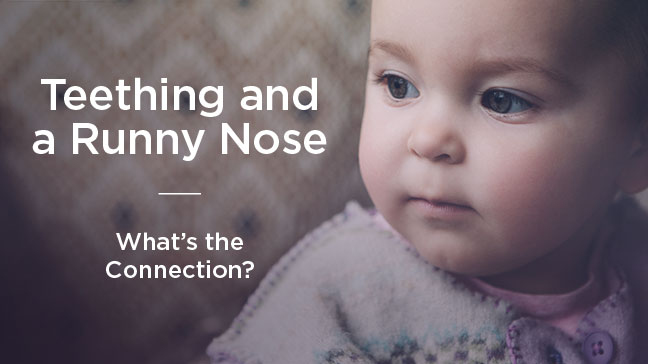 teething and runny nose