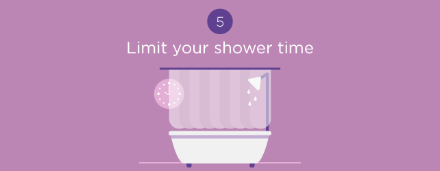 limit your shower time