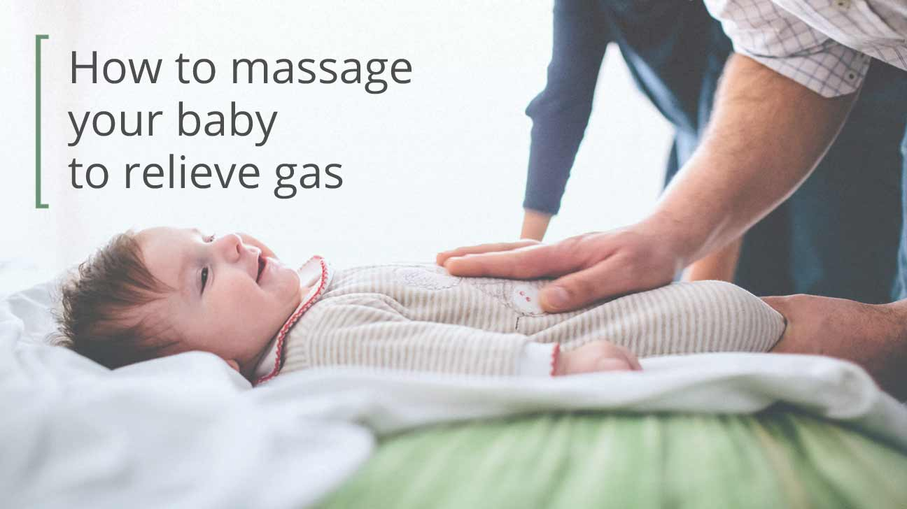 baby massage for gas