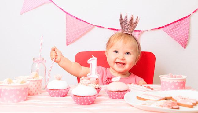 baby celebrating birthday
