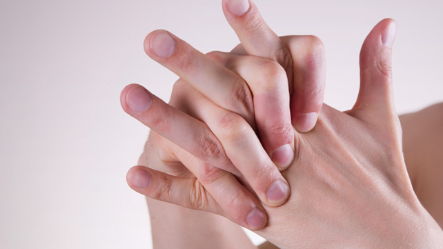 Person doing hand exercises