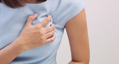 What does breast pain indicate