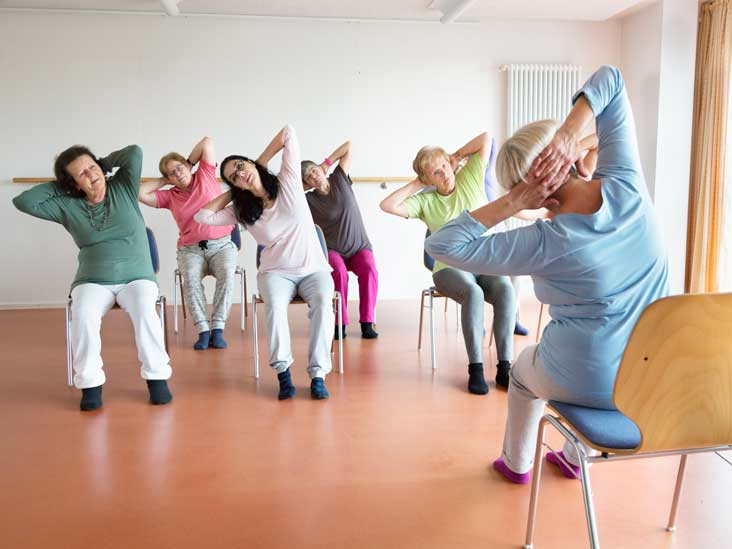 Seated Back Pain Stretches For Seniors - Best flooring for seniors