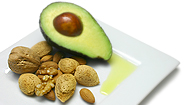 Examples of good fat: olive oil, avocado, and almonds.