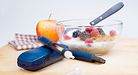 healthy foods and glucose monitors
