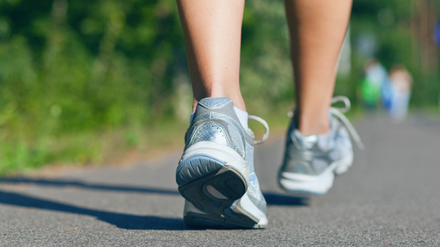 person with type 2 diabetes running
