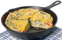 Tomato and basil frittata.