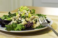 white bean and salmon salad