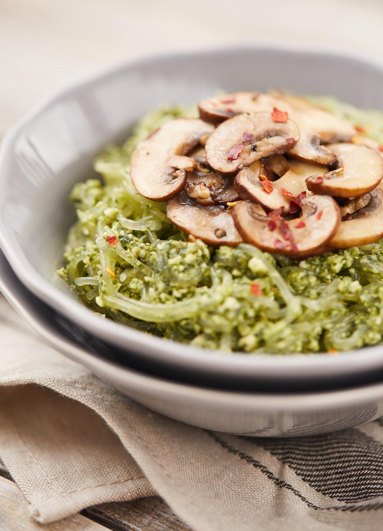 Vegan Kelp Noodles with Pesto