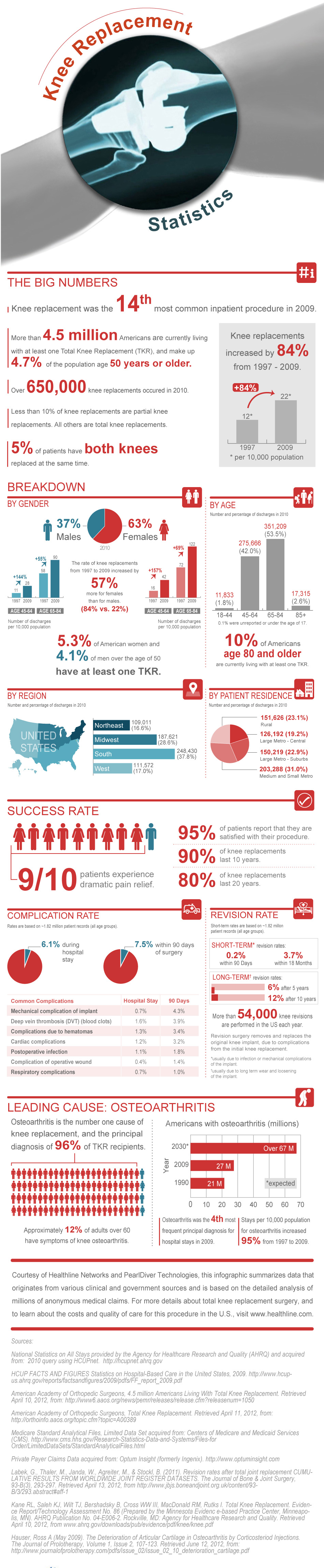 Knee Replacement Statistics Infographic